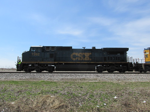Eastbound CSX Transportation Company light engine movement.  Chicago Illinois.  Sunday, April 21st, 2013. by Eddie from Chicago