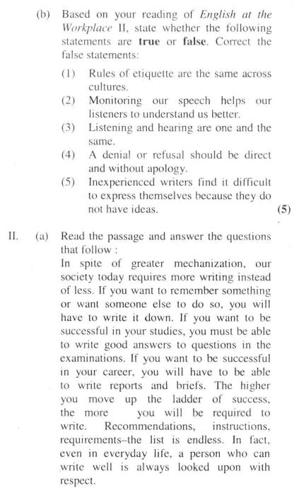 DU SOL B.A. Programme Question Paper - English B - Paper IX