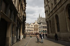 Looking at Grand Place