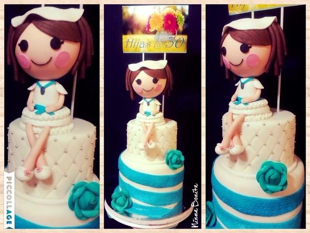 Cute Girl Cake by Ninna Bonita