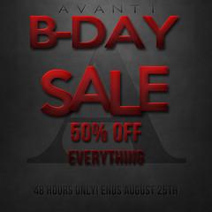 BIRTHDAY SALE!!