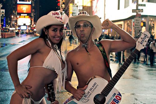 The Naked Cowboys in Times Square