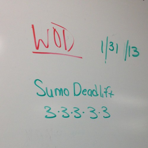 Sumo dead lifts at CrossFit