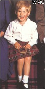 1987 William and Harry are pictured here at Balmoral in 1987.kilt2