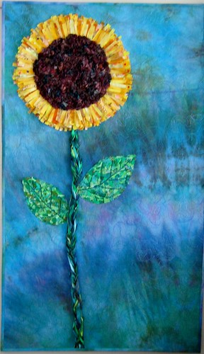 Sunflowers Make Me Happy  created for Project Quilting Season 4 Challenge 3 Annice's Vision