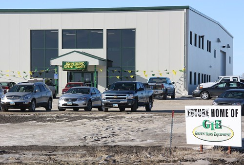 A new North Dakota farm equipment sales and service building: funded in part with a loan from a local cooperative backed by USDA.  The newly expanded dealership will provide up to eight new jobs.