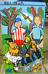 B0751 - 'Winky with more dogs' by Belinda Peel