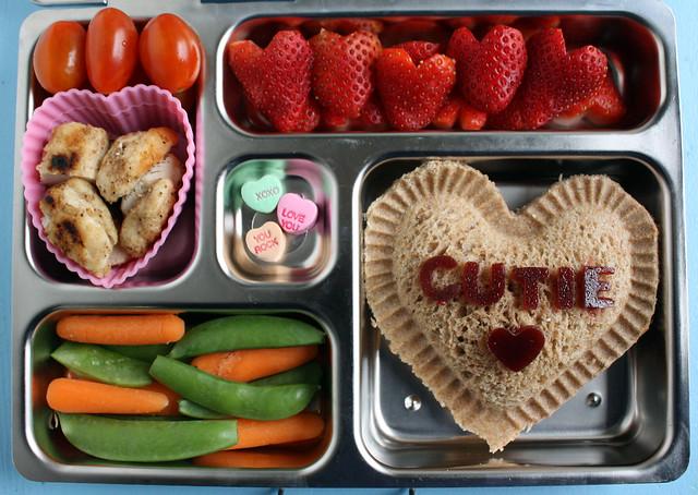 Preschool Conversation Heart Valentine Bento #400