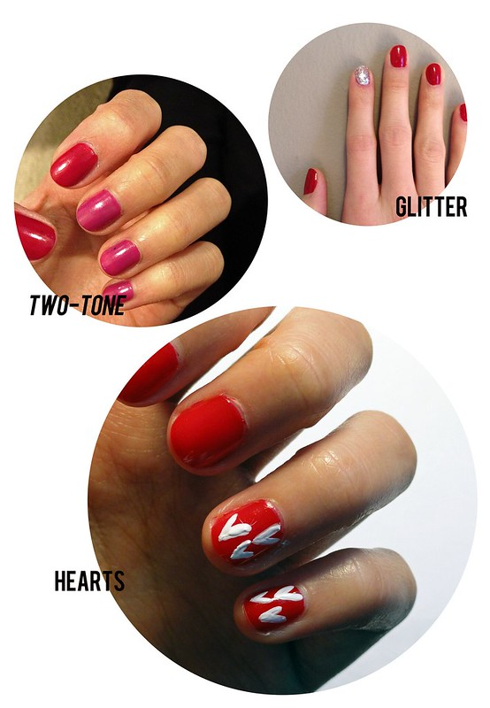 valentine's day nails, red nails, romance inspired nail tutorial, date night nails