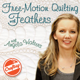 angela walters class at craftsy on free-motion quilting feathers