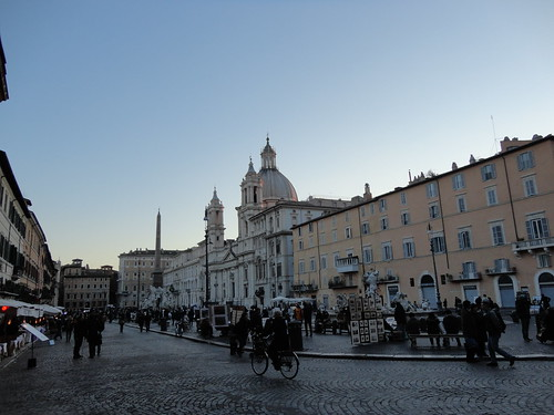 Piazza Navona at dusk #happy365 H365/45 by Jenelle Blevins
