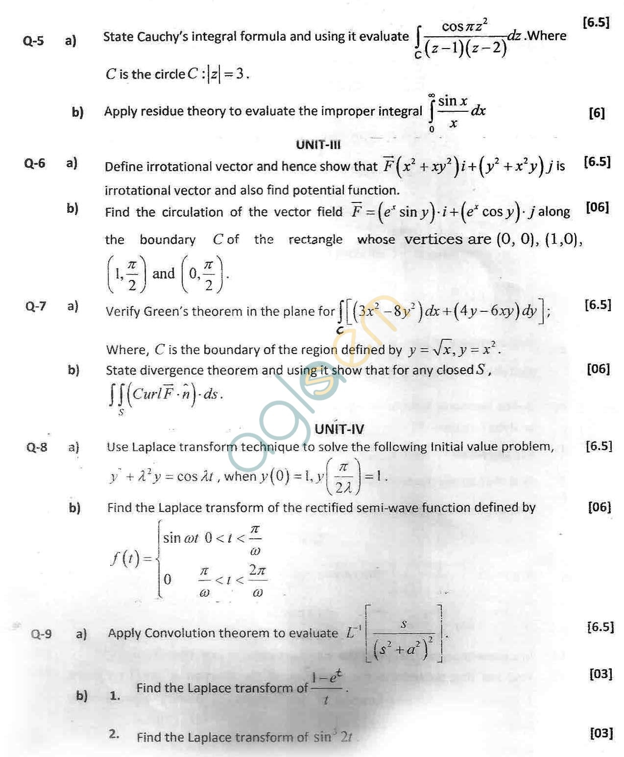 GGSIPU Question Papers Second Semester – end Term 2012 – ETMA-102