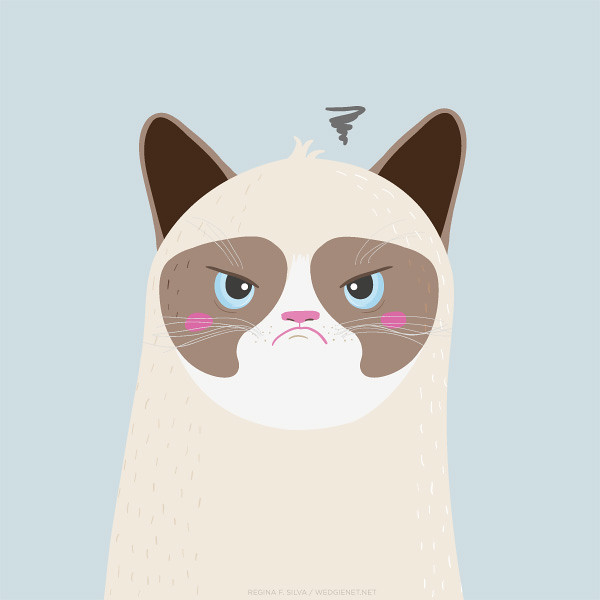 Tard the Grumpy Cat fan art