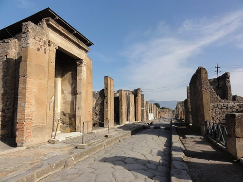 A main street in Pompeii