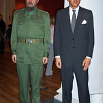 Fidel Castro and John F. Kennedy at Madame Tussaud