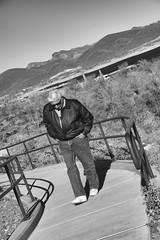 Dad at Lake Pleasant Regional Park.