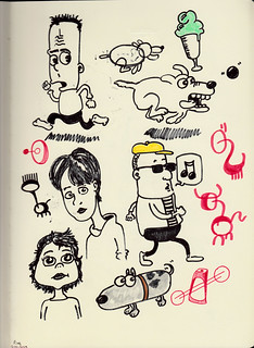 doodles and pen tomfoolery from a new Moleskine Folio A4 sketchbook