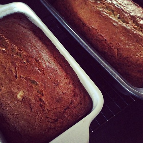 When one's fridge is acting up, make banana bread to avoid waste!