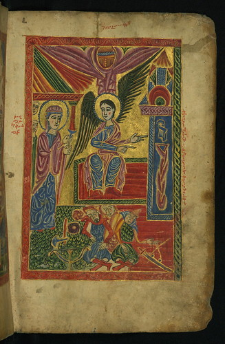 Gospel Book, Holy Women at the Tomb of Christ, Walters Manuscript W.540, fol. 13r by Walters Art Museum Illuminated Manuscripts