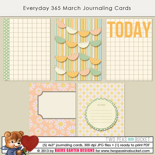 Everyday 365 March Journaling Cards