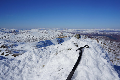 Looking Northwest towards the Mamores and Ben Nevis from the summit of Meall Garbh