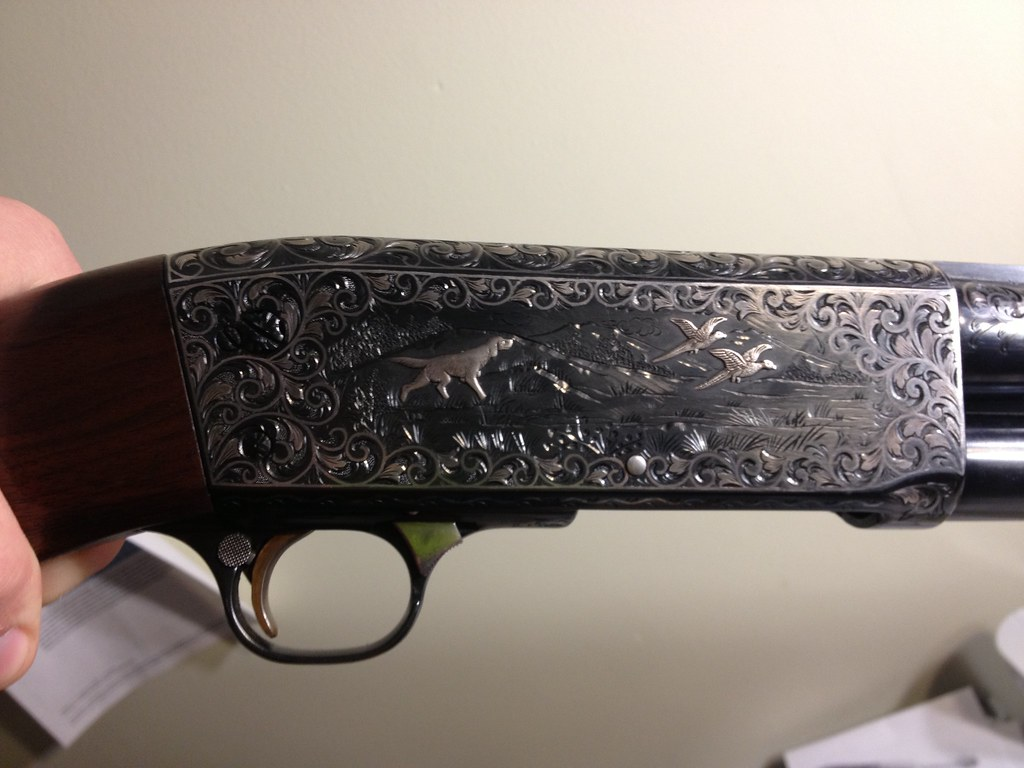 IthacaOwners com • View topic - Ithaca Model 37 Engraved by