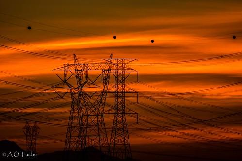 sunset arizona unitedstates powerlines goodyear