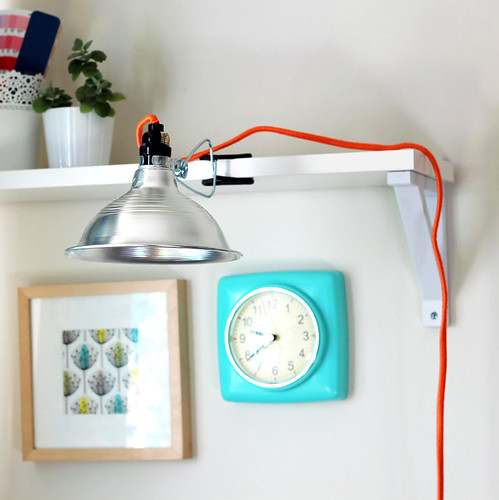 DIY Neon Wrapped Lamp Cord