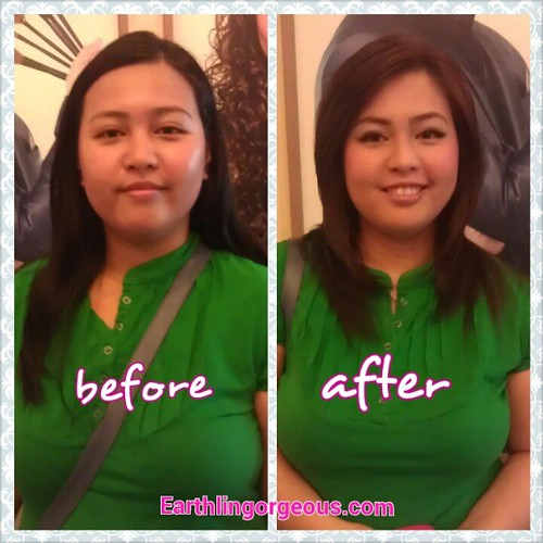 Yay! Before and after of @jajaferreria! Winner of my 5th blogversary earthlingorgepus.com #Makeover with Tony Galvez
