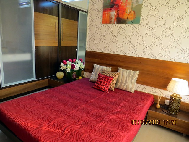 Master Bedroom -  Brookefield Willows, 2 BHK & 3 BHK Flats near Khadi Machine Chowk, Pisoli, Pune 411028 - Launching!