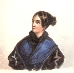 В. А. Лопухина (в замужестве Бахметева). Акварель М. Ю. Лермонтова. 1835-38 годы