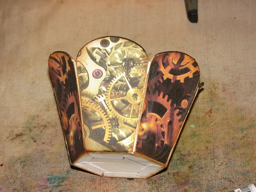 Steampunk Easter Egg Basket & Eggs 003