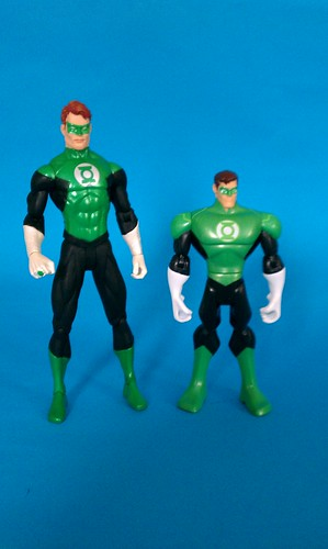 Justice League Green Lantern with DC direct figure for scale