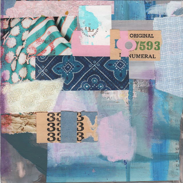 Collage: A Blue Bed Quilt