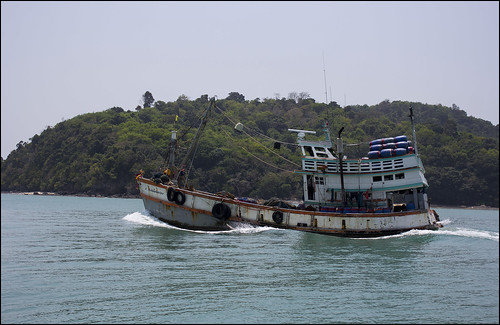 Fishing Boat on the east coast of Phuket