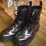 pewter Dr. Martens from DSW in Old Westbury