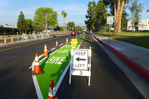 Shiny New Citrus Ave Bike Lane by cyclotourist