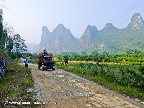 Ambiente rural camino a Yangdi
