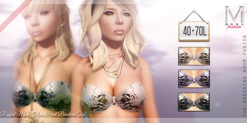 MONS / Rigged Mesh / FlowerPrint BandeauTop by Ekilem Melodie - MONS