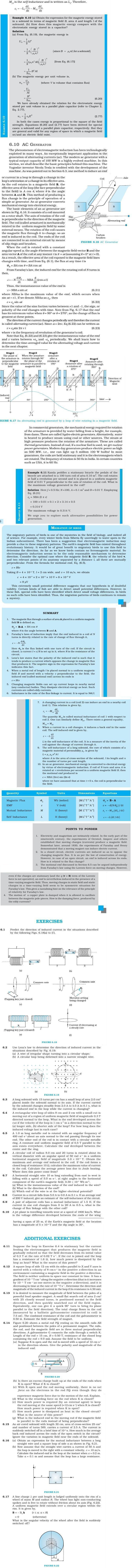 NCERT Class XII Physics Chapter 6 - Electromagnetic Induction