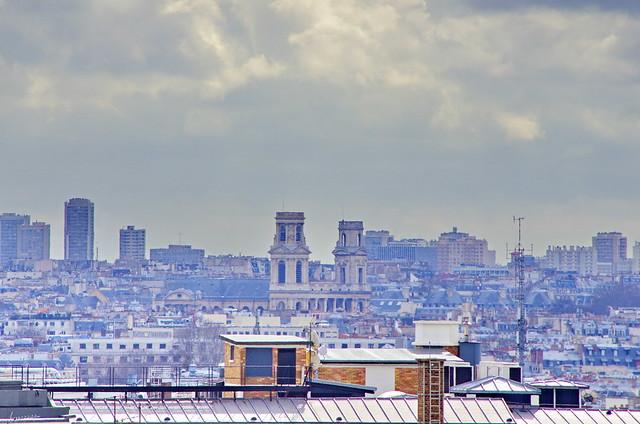 Paris vu depuis la terrasse de la maison du danemark sur - La maison du kilim ...
