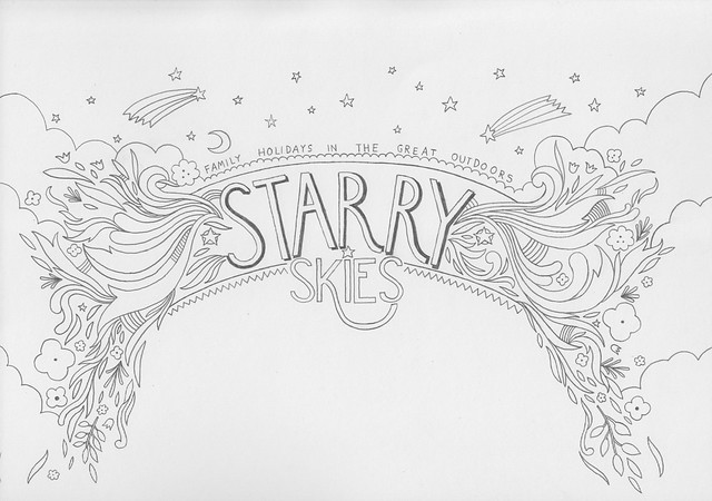 STARRY SKIES raw drawing header