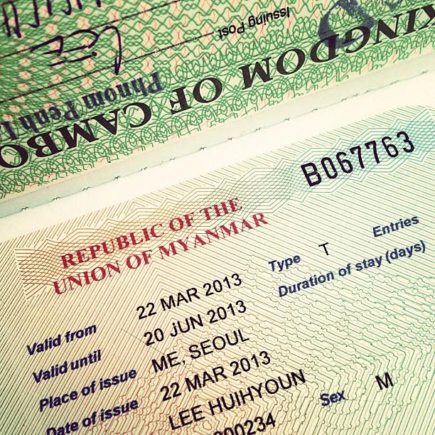 비자 발급 완료... 이제 곧 미얀마를 만나러 갑니다 #Myanmar #Travel #Visa