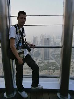 Au sommet de la Burj Khalifa Tower