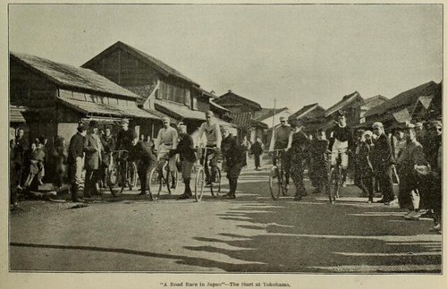 Bicycle road race in Japan