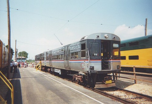 Retired Chicago Transit Authority 6000 Series rapid transit cars at the Illinois Railway Museum.  Union Illinois.  August 2000. by Eddie from Chicago