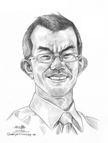 Pencil portrait for Chinese Swimming Club Ng Eik Pin - 23