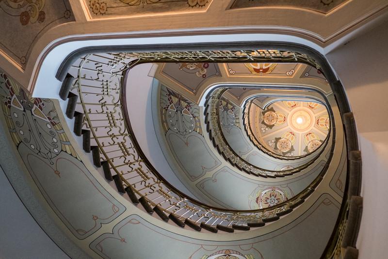 Riga, Latvia, Art Nouveau Museum, Spiral Staircase ! Спираль. EXPLORE DSCF2005