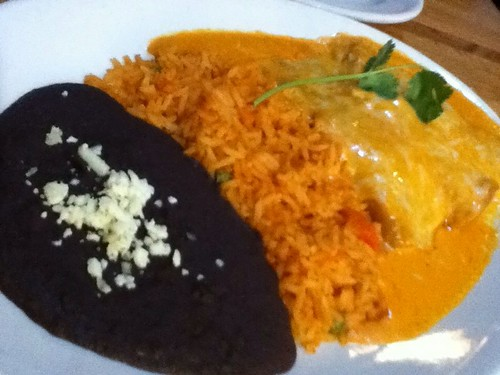 Diego's seafood enchiladas