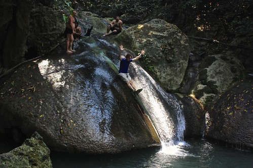 natural waterslide